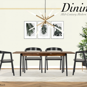 get the look dining mid-century modern