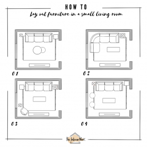 How to lay out furniture in a small living room