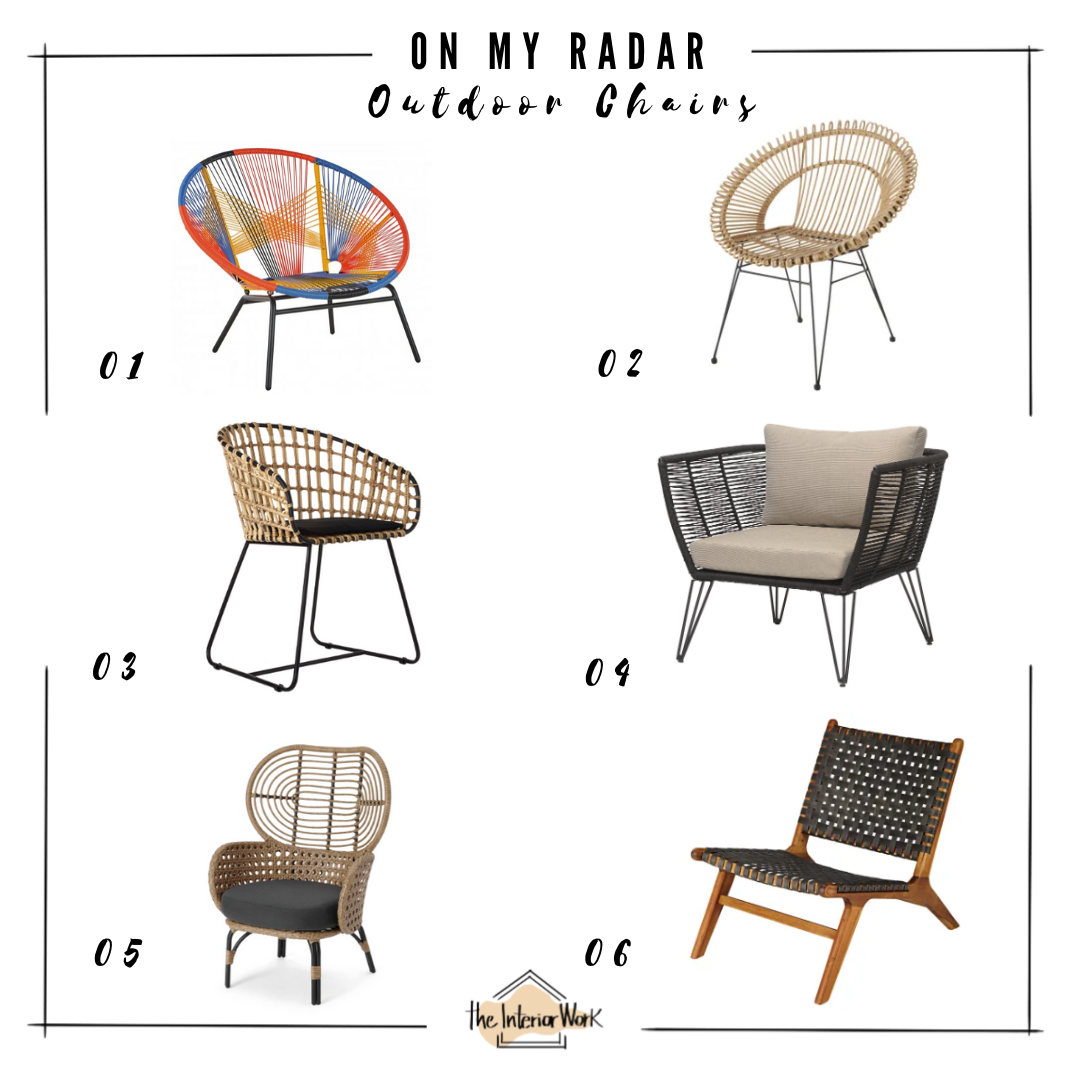 on my radar: outdoor chairs