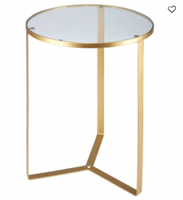 glass side table gold