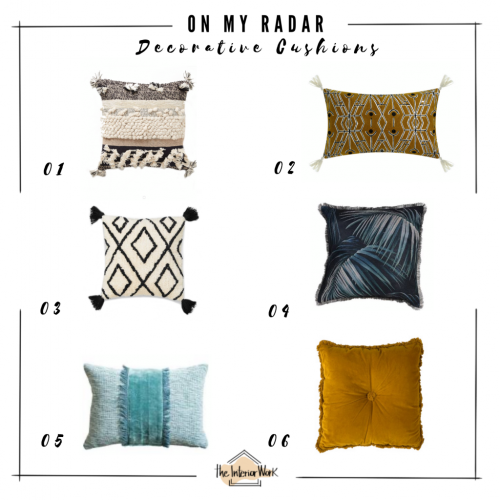 On my radar: Decorative Cushions