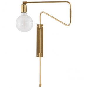 Swing Wall light with plug - Metal - Adjustable arm - House Doctor