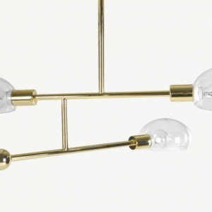 Tangle Chandelier Pendant 3 Lights, Brass