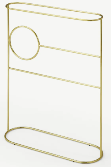 Sakari Freestanding Towel Rack, Brass