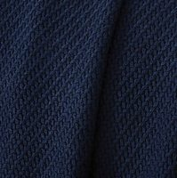 Blue knitted throw