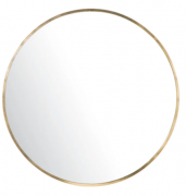 Round Gold Metal Mirror D101