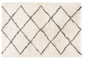 Berber Wool and Cotton Rug 140x200