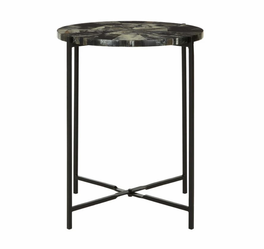 Side table antique green