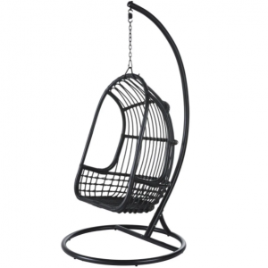 Hanging armchair in black canework